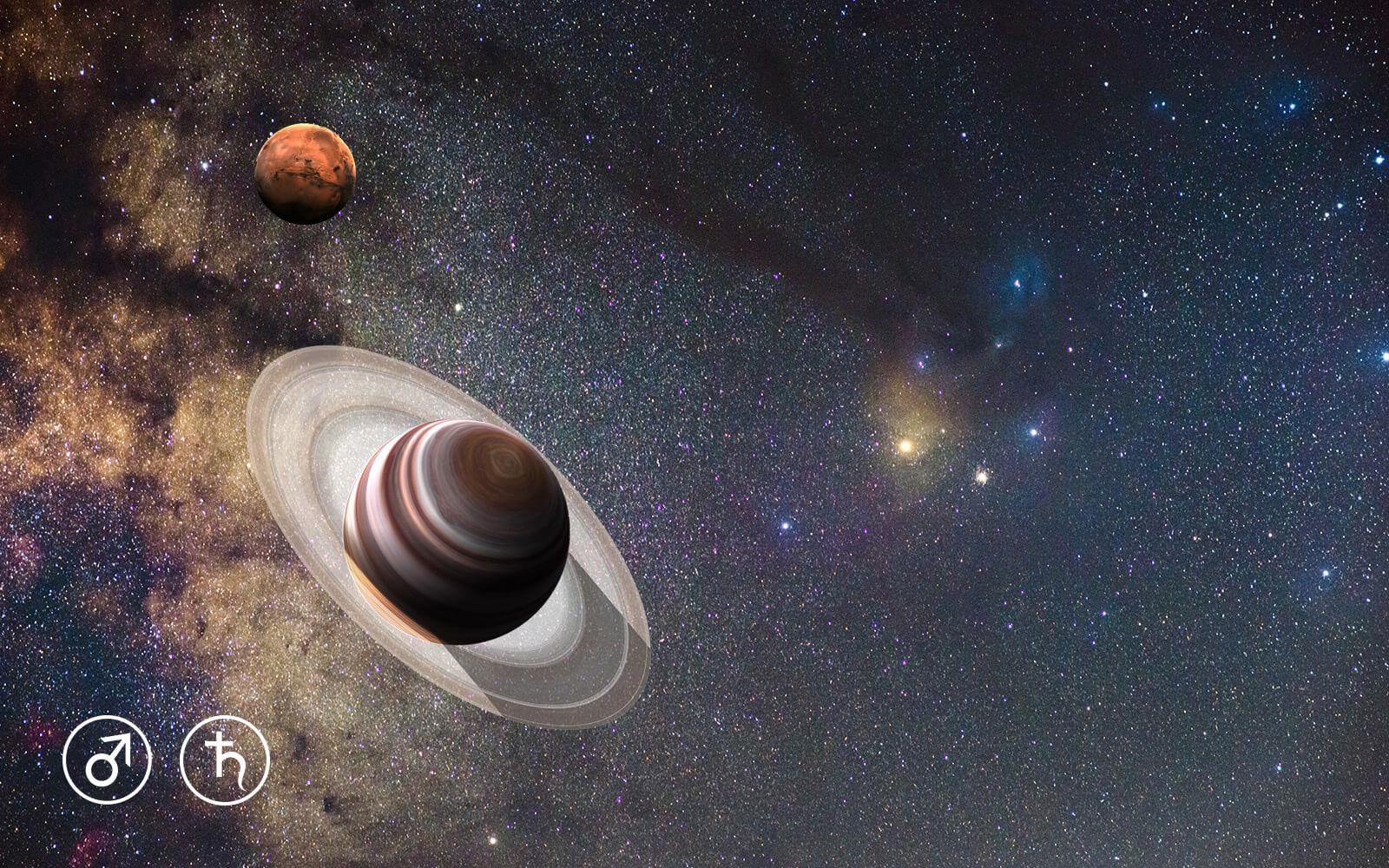 Mars i Saturn plešu na Antaresu