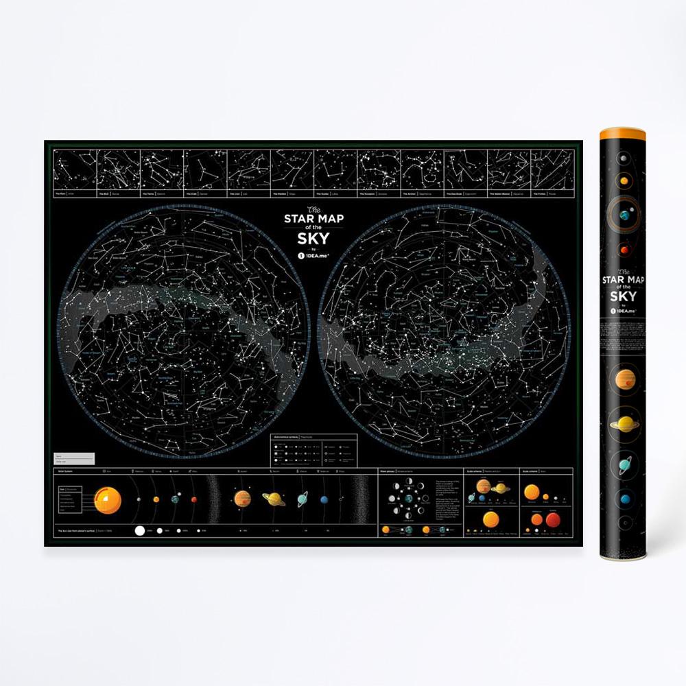 Mapa zvezdanog neba poster